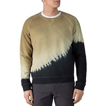 Atm Anthony Thomas Melillo French Terry Color Blocked Diagonal Tie Dyed Sweatshirt
