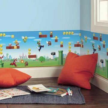 RoomMates Mario Scene Peel & Stick Wallpaper Border