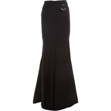 Roberto Cavalli Black Cotton Skirts