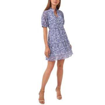 Msk Petite Tiered Babydoll Dress