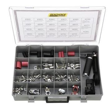 Seachoice 64-Piece Heavy-Duty Battery Terminal Kit with Crimper, Torch and Stripper