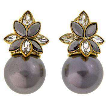 Heidi Daus Delicate Drama Simulated Pearl and Crystal Earrings