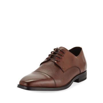 Men's Cap-Toe Leather Oxfords