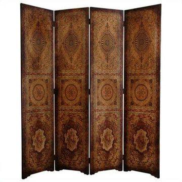 Oriental Furniture 6 Ft Tall Olde-Worlde Parlor Room Divider, 4 panel