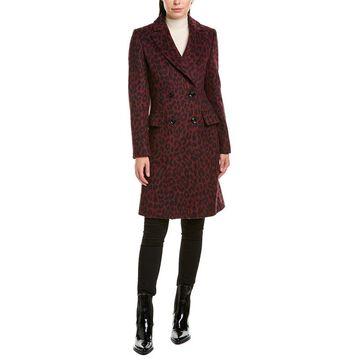 Karen Millen Womens Alpaca & Wool-Blend Coat