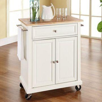 Crosley Furniture Wood Top Kitchen Island Cart