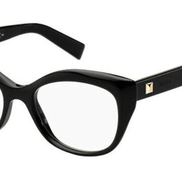 Max Mara MM 1317 807 Womenas Glasses Black Size 51 - Free Lenses - HSA/FSA Insurance - Blue Light Block Available