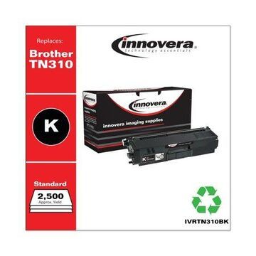 Innovera Remanufactured Black Toner Cartridge, Replacement for Brother TN310BK, 2,500 Page-Yield -IVRTN310BK