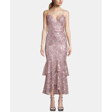 Sequin Ruffled Midi Dress