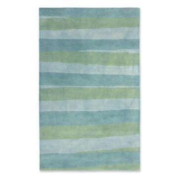 Liora Manne Stripes Sea Breeze 7'6 x 9'6 Tufted Runner in Blue