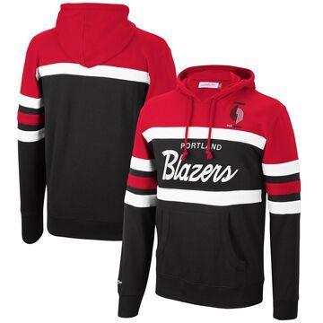 Men's Mitchell & Ness Red/Black Portland Trail Blazers Head Coach Pullover Hoodie