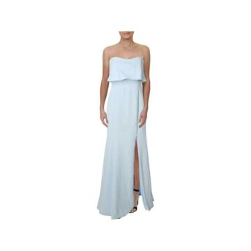 XSCAPE Ivory Sleeveless Full-Length Dress 10