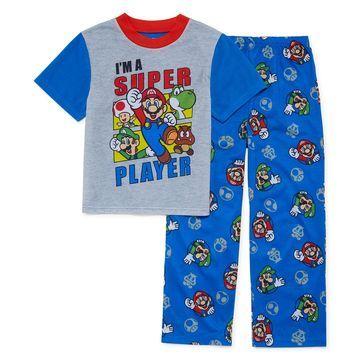 Nintendo Boys 2-pc. Super Mario Pant Pajama Set Big Kid