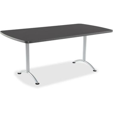 Iceberg Arc Fixed Height Table 36X72 Rectangular, Graphite