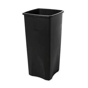 Rubbermaid Untouchable Plastic Square Wastebasket, 23 Gallons, Black (FG356988BLA)
