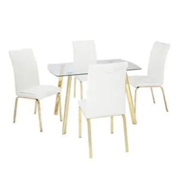 Simple Living 5-Piece Uptown Dining Set (White)