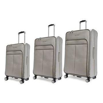 Adrienne Vittadini Stingray 3-Piece Luggage Set in Grey