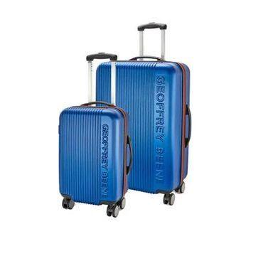 Geoffrey Beene Debossed Logo 2 Piece Hardside Luggage Set -
