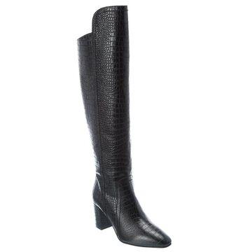Aquatalia Florina Weatherproof Leather Over-The-Knee Boot