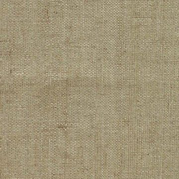 Kenneth James Ruslan Taupe Grasscloth Wallpaper