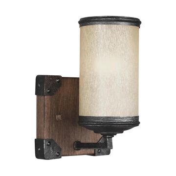 Sea Gull Lighting Dunning 5-in W 1-Light Stardust/Cerused Oak Modern/Contemporary Wall Sconce ENERGY STAR | 4113301EN3-846