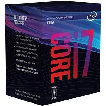 Intel8th Gen Intel Core i7-8700 Processor - 3.20GHz, 6 Cores, 12 Threads, 12MB Cache, FCLGA1151 Socket - Boxed(BX80684I78700)