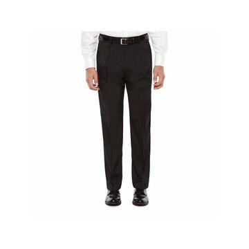 Savane Crosshatch Stretch Straight Fit Pleated Pants - Men's