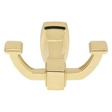Alno Modern Robe Hook in Polished Brass