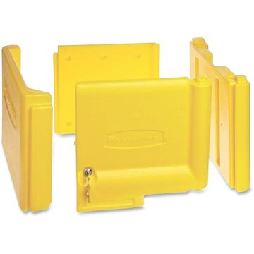Locking Cabinet For Rubbermaid Commercial Cleaning Carts Yellow 6181YEL