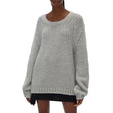 Helmut Lang Brushed Scoop Neck Sweater