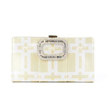 Roger Vivier Silver Cloth Clutch bags