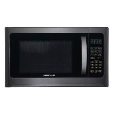 Farberware 1.2 cu. ft. Microwave Oven with Grill Function in Black Stainless Steel