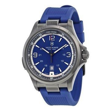 Victorinox Men's Swiss Army Night Vision Blue Dial Silicone Watch 241707