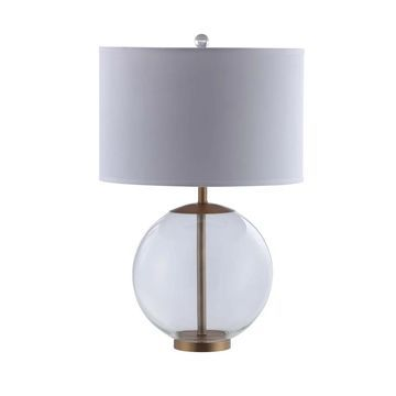 Coaster White and Clear Table Lamp