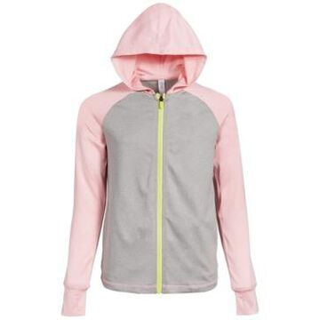 Ideology Big Girls Heathered Colorblocked Hooded Jacket, Created for Macy's