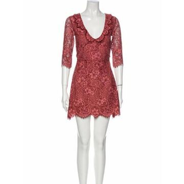 Lace Pattern Mini Dress