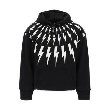 Neil barrett fair-isle thunderbolt hoodie
