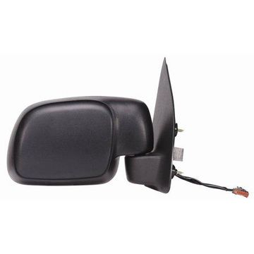 61159F - Fit System Passenger Side Mirror for 01-05 Ford Excursion from 2/18/01, LED Arrow Turn Signal, textured black, foldaway, Heated Power