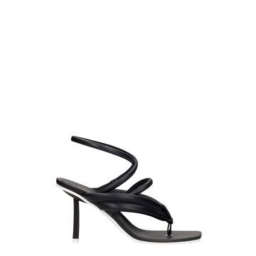 Le Silla Sandals In Black Leather