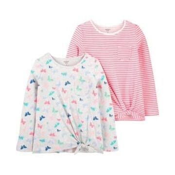 Carters Big Girl 2-Pack Long-Sleeve Jersey Tees