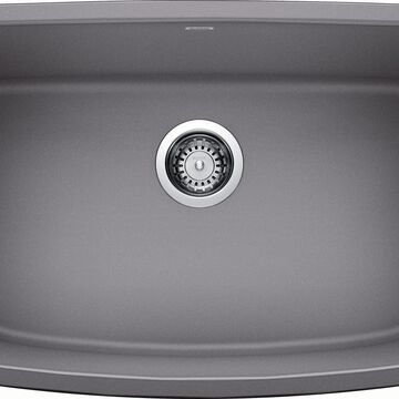 BLANCO Valea Undermount 27-in x 18-in Metallic Gray Single Bowl Kitchen Sink   442554