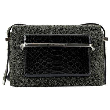 Mary Katrantzou Grey Leather Handbag