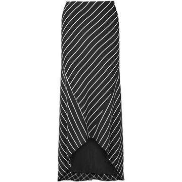 Haider Ackermann Asymmetric Striped Satin Skirt