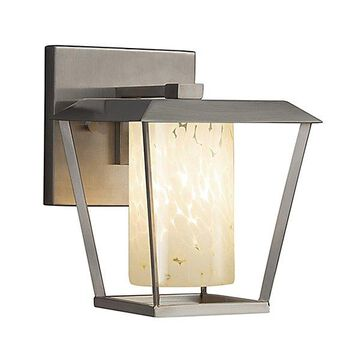 Justice Design Group Fusion Patina Outdoor Wall Sconce - Color: Nickel - Size: Small - FSN-7551W-10-ALMD-NCKL