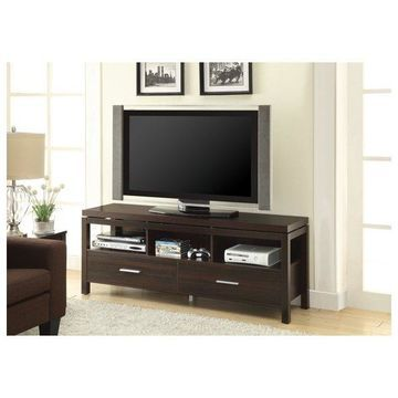 Coaster TV Console, Dark Brown