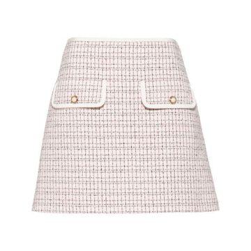 MIU MIU plaid A-line mini skirt