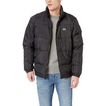 Obey Mens Jacket Black Size Small S Bouncer Puffer Full-Zip Hooded