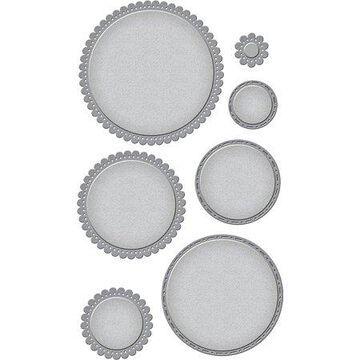 Spellbinders Nestabilities Dies-Fancy Edged Circles