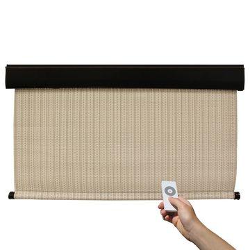 Keystone Fabrics Premier Motorized Outdoor Solar Shade with Protective Valance