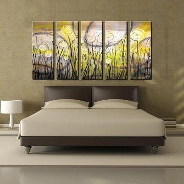 Ready2HangArt 'Painted Petals VI' 5-Piece Canvas Wall Art Set
